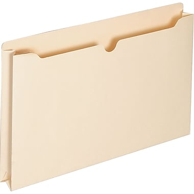 Staples File Jacket, 1.5in. Expansion, Legal, Manila, 10/Pack