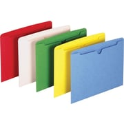 Staples® File Jacket, Flat, Letter, Assorted, 10/Pack