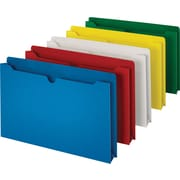 Staples ® File Jacket, Flat, Legal, Assorted, 10/Pack