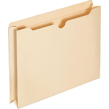 Staples File Jacket 2in. Expansion, Letter, Manila, 25/Pack