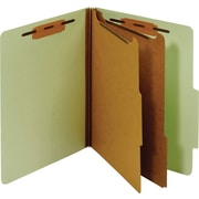 Staples® Classification Folder, 2 Dividers, Letter, Green, 5/Pack