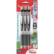 Pentel® EnerGel RTX® Retractable Gel-Ink Pens, Medium Point, Black, 3/Pack