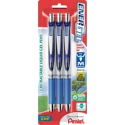 Pentel® EnerGel RTX® Retractable Gel-Ink Pens, Medium Point, Blue, 3/Pack