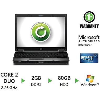 Refurbished HP Compaq 6530b 14.1in., 80GB Hard Drive, 2GB Memory, Intel Core 2 Duo, Win 7 Home