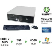 Refurbished HP Compaq DC7900, 160GB Hard Drive, 2GB Memory, Intel Core 2 Duo, Win 7 Home