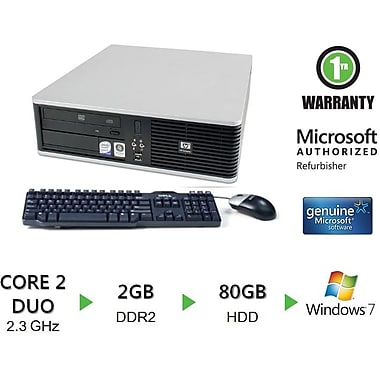 Refurbished HP Compaq DC7800, 80GB Hard Drive, 2GB Memory, Intel Core 2 Duo, Win 7 Pro