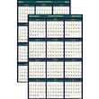 House of Doolittle® Laminated Academic Wall Reversible Planner, 24 x 37in., 2014-2015
