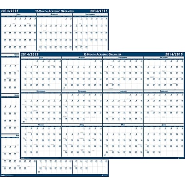 House of Doolittle® Erasable Academic Wall Planner, 24 x 37in., 2014-2015