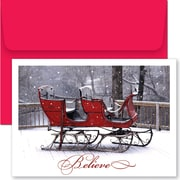 Great Papers® Holiday Cards Believe Sleigh  , 18/Count
