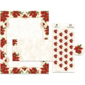 Great Papers® Holiday Stationery Kit, Poinsettia Swirl, 25 Sets