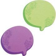 "Redi-Tone 2 3/4"" Post-It Notes, 75 Sheets, Neon Green and Purple (22102)"
