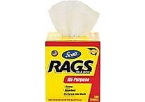 Scott ® Rags in a Box, White, 200/Box