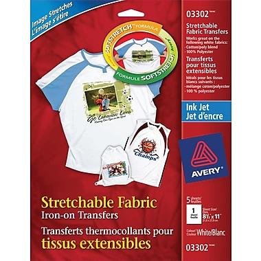 Avery® Stretchable Inkjet T - Shirt Transfers, 8 - 1/2