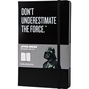 Moleskine Star Wars Limited Edition Notebook, Large, Ruled, Black, Hard Cover, 5 x 8-1/4