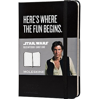 Moleskine Star Wars Limited Edition Notebook, Pocket, Ruled, Black, Hard Cover, 3-1/2in. x 5-1/2in.