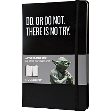 Moleskine Star Wars Limited Edition Notebook, Large, Plain, Black, Hard Cover, 5in. x 8-1/4in.