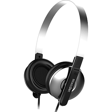 MIXCDER M2C858 Corded 3.5mm Music Headphone, Black/Silver