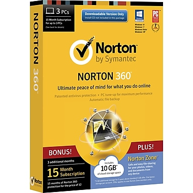 Norton 360 + Norton Zone for Windows (1-3 Users) [Boxed]