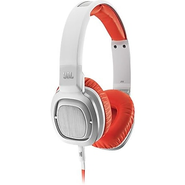 JBL J55i Over-Ear Headphones, White/Orange