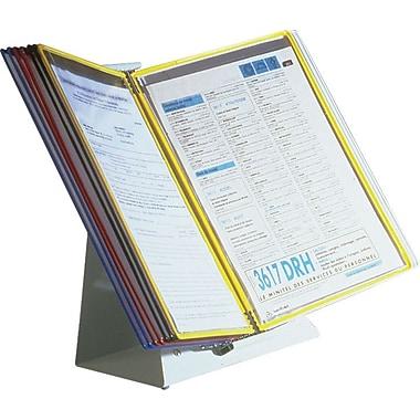 Tarifold D292 Desktop Document Holder, 20 Pockets, Grey Base