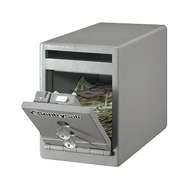 SentrySafe® (UC-025K) Drop Slot Depository Security Safe, Grey
