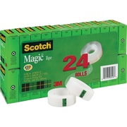 "Scotch® Magic™ Tape Refill 810, 3/4"" x 1,000"", 1"" Core, 24/Pk"