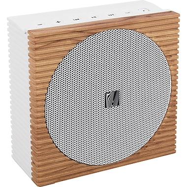 Soundfreaq Sound Spot Bluetooth Speaker, White/Wood