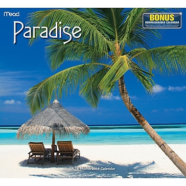 2014/2015 Mead® Paradise Wall Calendar, 12in. x 11in.