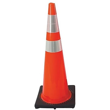 Cortina Safety Cone with 2 Reflective Collars, 28in.