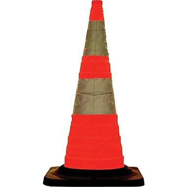 Cortina Safety Pack 'N Pop Collapsible Cone, 28in.