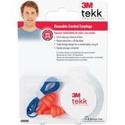 3M® Tekk Coreded Reusable Earplugs, Orange, 25 dB