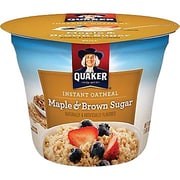 Quaker&reg Oatmeal Express Brown Sugar, 1.9 oz. Cups, 24 Cups/Case