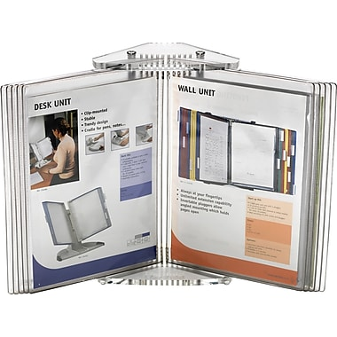 Tarifold CD271 Crystal Desktop Document Display for Portrait or Landscape Viewing, 10 Pockets, Clear