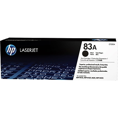 HP 83A Black Toner Cartridge, (CF283A)