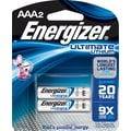 Energizer e² Lithium Batteries, AAA, 2/Pack