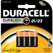 Duracell® Copper Top 21/23 Alkaline Keyless Entry Battery, 4/Pack (MN21B4PK05)