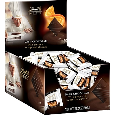 Lindt Excellence Diamonds:  Orange Dark Chocolate, 60 Piece