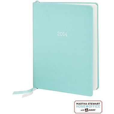 Martha Stewart Home Office™ with Avery™ 2014 Perfect-Bound Planning Calendar, Blue, Desktop, 6-7/8in. x 9-3/16in.