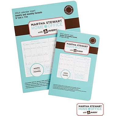 Martha Stewart Home Office™ with Avery™ 2014 Calendar Insert, 8-1/2in. x 11in.