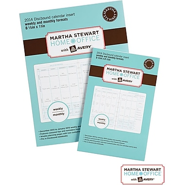 Martha Stewart Home Office™ with Avery™ 2014 Discbound Calendar Insert, 8-1/2in. x 11in.