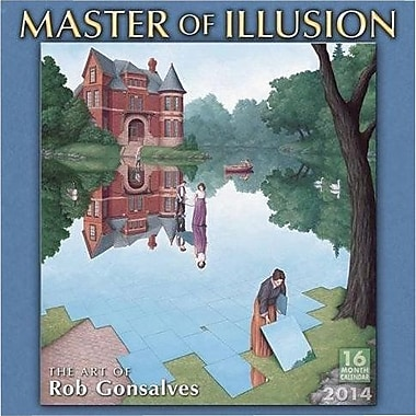 2014 Browntrout Publishers, Master of Illusion Wall Calendar, 12in. x 12in.