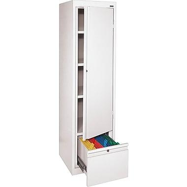Sandusky® 3-Adjustable Shelves Storage Cabinet with File Drawer, White