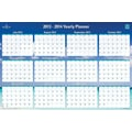 Blue Sky® Academic/Annual Erasable/Reversible Wall Planners; 36x24in., 18 Months, Endless Summer®