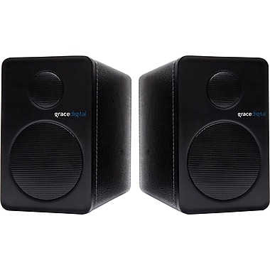 Grace Digital GDI-BTSP201 - aptX Powered Bookshelf Bluetooth Speakers, set of 2