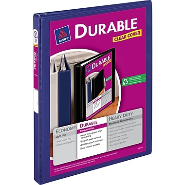 1/2in. Avery® Durable View Binders with Slant-D™ Rings, Blue
