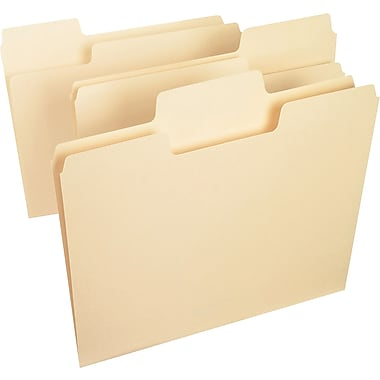 Smead SuperTab® Heavyweight Folder, Letter Size, 1/3-Cut, 50 per box