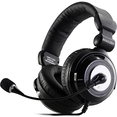 MIXCDER M2C117 Corded 3.5mm Gaming Headset, Black