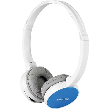 MIXCDER M2C309 Bluetooth Headphones, White/Blue