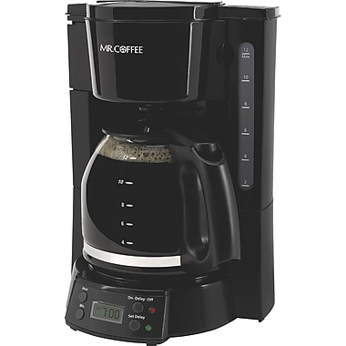 Mr. Coffee 12 Cup Programmable Coffee Maker, Black