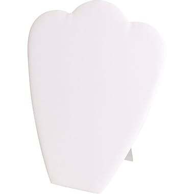 Necklace Display White Padded Card, 10-7/8